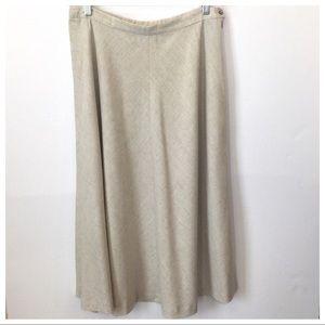 Vintage Pendleton A-Line Skirt Linen Blend Size 16
